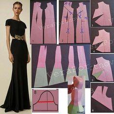 Irina Golubeva (@shitsamoi) • Фото и видео в Instagram Hijab Fashion, Diy Fashion, Fashion Design, Pattern Cutting, Pattern Making, Embroidery Patterns, Sewing Patterns, Pattern Drafting, Free Pattern