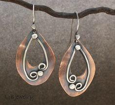copper dangle earrings | Flickr - Photo Sharing!