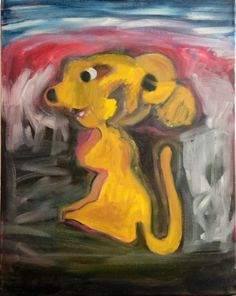 Yellow Mouse 1 - http://www.contemporary-artists.co.uk/paintings/yellow-mouse-1/