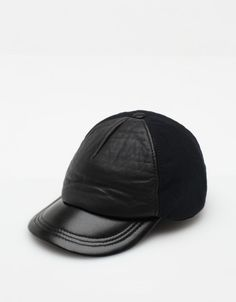 Leather and cotton canvas cap - Need Supply Co.