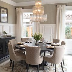 stylish and peaceful 8 seater dining table set. Round Dining Room Tables For 8 Seats  ding room table is perfect for those of you who like to call your friends or neighbors dinner Instagram Post by Interior Design Interiors House and