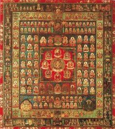 , 'Womb World Mandala, Heian period,' Late 9th century, Art History 101