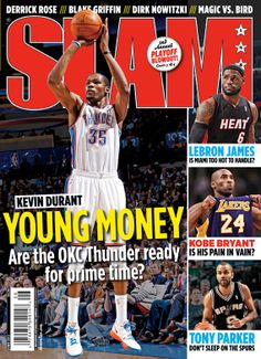 SLAM 158: Oklahoma City Thunder Kevin Durant appeared on the cover of the 158th issue of SLAM Magazine (2012, cover 3 of 4).