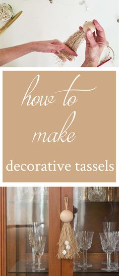 DIY Decorative Tassels! The perfect touch to your home. Add a little rustic farmhouse to your home this weekend with this easy DIY. #diy #diydecor #diyproject