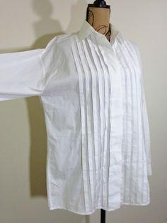 Shamask blouse lagenlook top art to wear artsy white designer upscale sz 2 M L #Shamask #Blouse #EveningOccasion