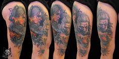 #tattoo #witcher #wildhunt #videogame #gamer #tattooing #idea #girl #ciri #gerald #thigh #art #uniqe #witcher #witcher3 #wild #hunt #video #game #gerald #ciri #gamer #gamergirl #ciri #tattooing #color #thightattoo #best #cdprojektred #character #portrait #woman #wolf