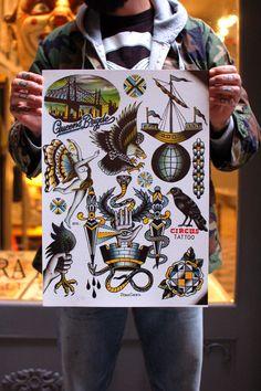 Circus Flash Set  by La Cobra Negra Tattoo Art Gallery