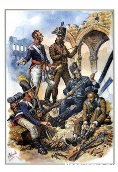 Portuguese infantry, Penisular War, c. Battle Of Waterloo, War Of 1812, Fun World, British Soldier, Napoleonic Wars, American Civil War, Military History, Figure Painting, Warfare