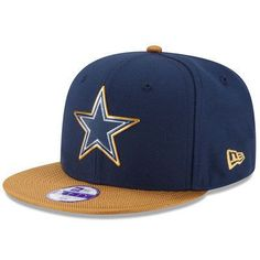 NFL Dallas Cowboys New Era Navy Gold Collection On 9FIFTY Original Fit Snap  back Hat d96afd3d82b