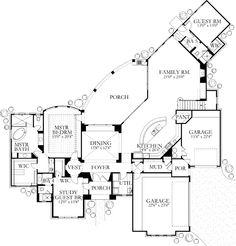#floorplan #twostory House Plan 4240-06 - The Zambra