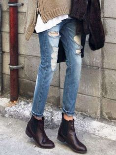 Come abbinare i chelsea boots - Chelsea boots e jeans boyfriend