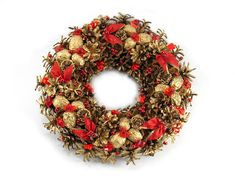 Christmas Wreath  Ornament Wreath Pinecone Wreath Front