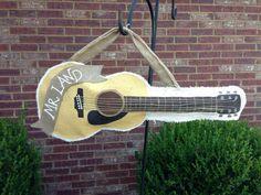 Burlap Guitar