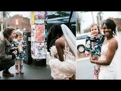 Little girls thought bride as a real life princess