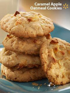 Somebody say cookies? The fans at your football party will gobble up this sweet treat! Caramel Apple Oatmeal Cookies are a delicious combo of Pillsbury Cookie Mix w/ rolled oats, melted butter and dried apples. Have a Game Time recipe you love? You could