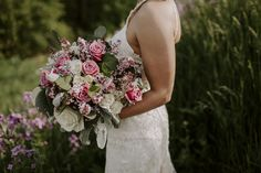 Lilac, Roses, Dusty Miller and Silver Dollar Eucalyptus Amanda Bradford, Lilac Roses, Dusty Miller, Silver Dollar, Big Day, Floral Design, Bouquet, Bridal, Floral Patterns