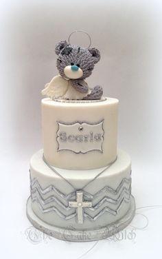 Tatty Teddy Angel Christening Cake