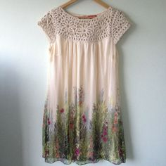 European Wardrobe crochet floral dress      ♪ ♪ ... #inspiration #diy GB http://www.pinterest.com/gigibrazil/boards/