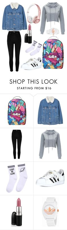 """✨✴⭐"" by baby-eeyore ❤ liked on Polyvore featuring Sprayground, MANGO, River Island, Yeah Bunny, adidas, MAC Cosmetics and Beats by Dr. Dre"
