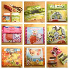 365 dagen creatief: Dag 209 - Recycle Portemonnee Hello Kitty - Mini Moke - Disney Fairies