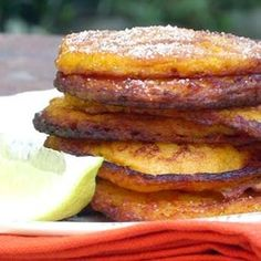 Whip up these heavenly Masala and Butternut Fritters for dinner Ingredients 2 cups ml) cooked and mashed butternut cup ml) flour 1 t ml) Ina Paarman's […] Pumpkin Fritters, Squash Fritters, Veggie Recipes, Low Carb Recipes, Mashed Butternut Squash, Sweet Potato Fritters, Masala Spice, Pakora Recipes, Delicious Desserts