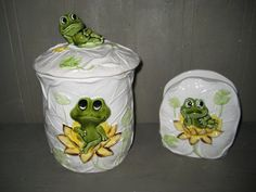 Frog Canister and Napkin Holder from Japan by MarcelandMargolis