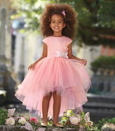 butterfly princess girls dress - In this gorgeous dress, a girl might imagine she's a butterfly in a fairy-tale garden. Frothy layers of sparkle tulle form the lush skirt, which you'll notice is longer in back. The pink satin bodice is also covered with sparkle tulle. At the waist, butterfly appliqués with a touch of rhinestones alight softly. A girl never forgets a dress like this.