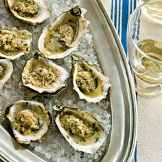 Aphrodisiac Foods: Broiled Oysters with Parmesan-Garlic Butter - Aphrodisiac Foods: Oysters - Coastal Living Mobile Oyster Recipes, Cajun Recipes, Fish Recipes, Seafood Recipes, Cooking Recipes, Seafood Meals, Grilling Recipes, Tapas, Gastronomia