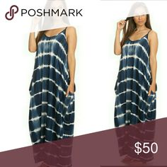 Plus Size Boho Maxi Dress Made In USA  Fits Sizes: 2xl, 3xl, 4xl Loose Fit Low Waist Pockets New Without Tags  Material: 95% Rayon 5% Spandex Hand Wash Line Dry Dresses Maxi