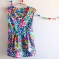 Liberty of London print Hampton Wedding Washi Top pattern by Made By Rae Handmade in Australia @rhapsodyandthread