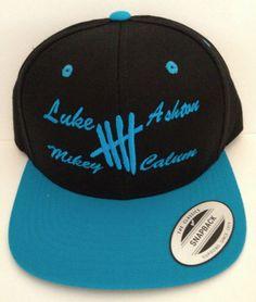 5 Seconds of Summer snapback Luke Ashton Mikey Calum one direction on Wanelo