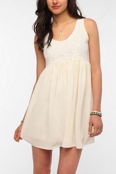 One & Only x Urban Renewal Crochet Babydoll Dress