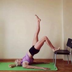 Awesome chair workout! @squatguide @squatguide #squatguide - md  @taliapike