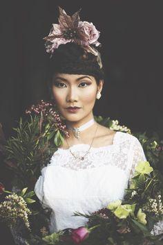 Taylor + Bailey - Wildflower Weddings Fusion Design, Just The Way, Wild Flowers, Gowns, Weddings, Wedding Dresses, Pretty, Model, Hair