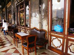 Venice - Table under the arcade at Caffè Florian | Flickr - Photo Sharing!