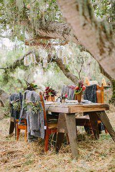 vintage rustic woodland bohemian wedding ideas