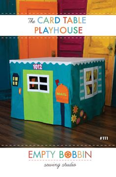 Create fun and adventure that your child will love now and remember forever with the Card Table Playhouse. Make your child's playhouse unique by customizing everything, from the colors to the curtains  to the mailbox and address over the door!    Fully illustrated 12-page booklet format. Full size template sheet included!