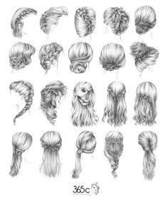 Penteados rápidos e bonitos.