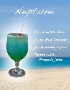 Mixed Drink Recipes | Neptune - Mixed Drink Recipe | Dining, Cocktails & Recipes