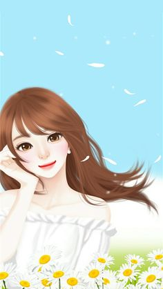 Find images and videos about girl, cute and lovely girl on We Heart It - the app to get lost in what you love. Korean Illustration, Illustration Girl, Cute Cartoon Girl, Cartoon Art, Cute Girl Drawing, Cute Drawings, Lovely Girl Image, Cute Girl Wallpaper, Beautiful Fantasy Art