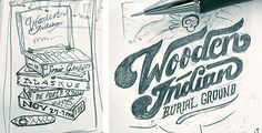 Wooden Indian Burial Ground - Gigposter on Behance
