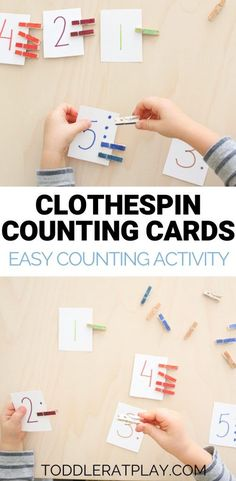 Clothespin Counting Cards