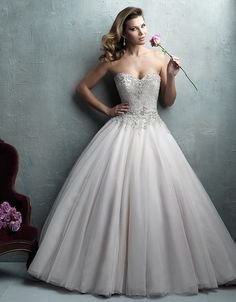 @Bellethemagazine wedding dresses | Allure Couture Spring 2016 | Floor Ivory Ball Gown Sweetheart