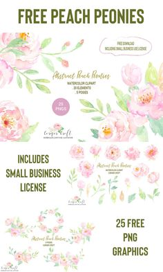 New wedding planner free printables watercolor flowers ideas Free Flower Clipart, Flower Svg, Free Watercolor Flowers, Floral Watercolor, Watercolor Sketchbook, Watercolour Painting, Free Printable Clip Art, Free Printables, Scrapbooking Digital