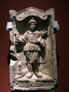 Fragment of an altar to Silvanus roman god in Pannonia – Hungarian National Museum – Silvanus istennek szentelt oltár, Pannonia – Magyar Nemzeti Múzeum Lapidárium