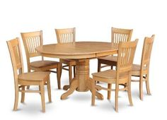 East West Furniture AVVA7OAKW 7Piece Dining Table Set ** Want to know more, click on the image.Note:It is affiliate link to Amazon.