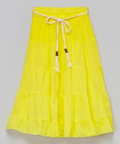 Take a look at this All Sun Belt Maxi Skirt - Toddler & Girls on zulily today!