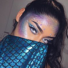 Looking for for inspiration for your Halloween make-up? Check out the post right here for perfect Halloween makeup looks. Rave Makeup, Fx Makeup, Prom Makeup, Fancy Dress Makeup, Daily Makeup, Makeup Primer, Makeup Geek, Makeup Addict, Wedding Makeup