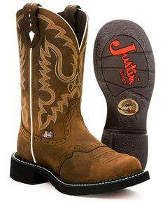 Justin leather Gypsy boots.... i have these exact ones ... the leather is darker than that though