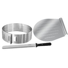 "Cake layer slicing kit.  For perfect tortes and layering.  In the ,"" it's so simple why haven't I seen this around"" category."
